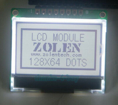12864 128x64 Serial Spi Graphic Cog Lcd Module Display Screen Lcm W St7565p 5v