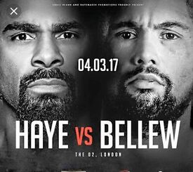 Daivd Haye V Tony Bellew Price Level 1A Tickets £331 per ticket face value
