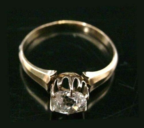 STUNNING Antique Oval Diamond Ring