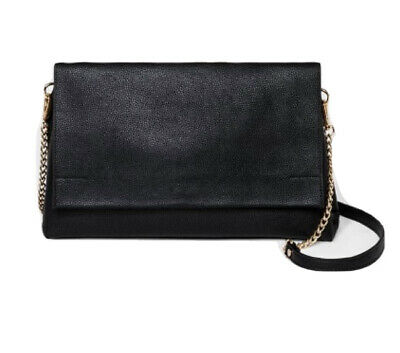 Soft Snap Flap Cross Body Clutch - A New Day Black NWT