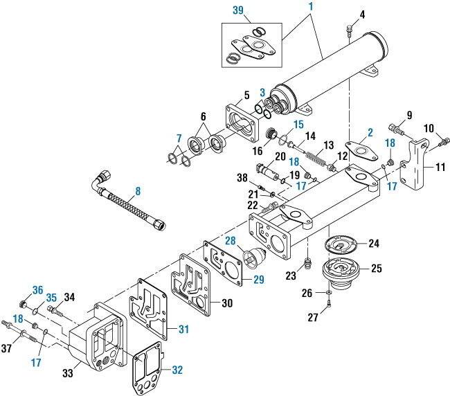 Oil Cooler Gasket O-Ring Mounting Kit for Cummins N14. PAI