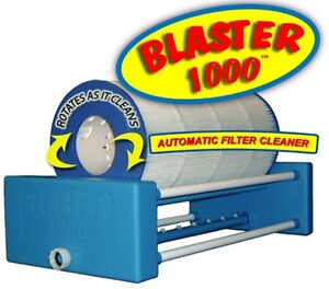 Automatic hot tub & swimming pool cartridge filter cleaner