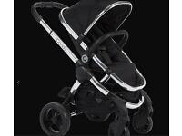 iCandy Peach Pushchair Black Magic 2 - Chrome Chassis Pram RRP £760