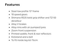 """Ladies 26"""" inch pedal bike with stand 18 speed please read the description!!"""