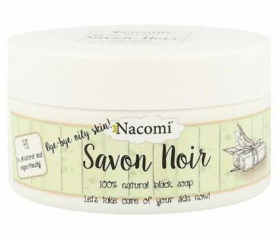NACOMI SAVON NOIR 100% NATURAL BLACK SOAP ENZYME PEEL 120g VEGAN FRIENDLY