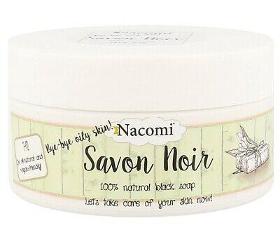 NACOMI SAVON NOIR 100% NATURAL BLACK SOAP ENZYME PEEL 200g VEGAN