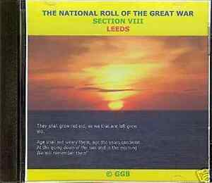 LEEDS-NATIONAL-ROLL-OF-HONOUR-IN-THE-GREAT-WAR-CD