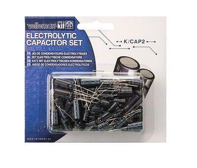 Electrolytic Capacitor Assortment 120pcs Velleman Kcap2