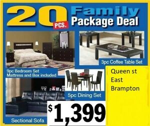 SOFA SET, DINNING TABLE, BEDROOMSET, COFFEE TABLE ALL FOR ONE