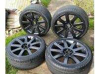 "18"" Audi RS4 Style Alloy Wheels TT A2 A3 A4 VW GOLF MK4 MK5 MK6 Touran Bora Seat Leon Skoda VRS"
