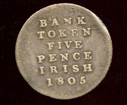 Ireland 1805  Silver 5 Pence !  George III, Five Pence Irish Bank Token