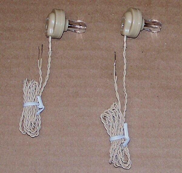 Two 2 PCS lot ceramic crystal - transistor radio receiver earphone parts  Hi-IMP