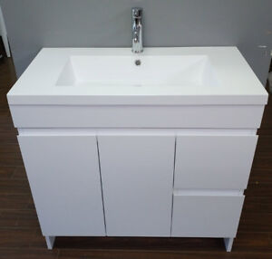 """36"""" modern white vanity with top/sink incl"""