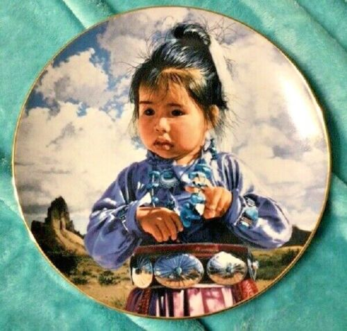 SWANSON PLATE - THE PROUD NATION - IN A BIG LAND - 1988 PLATE W/ CERTIFICATE