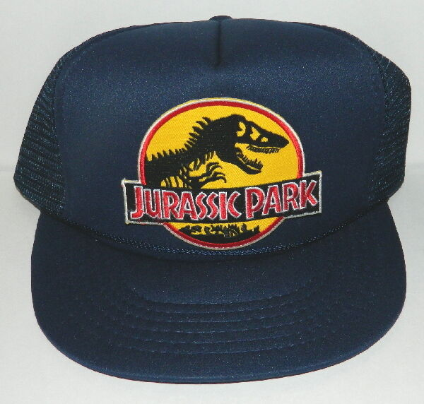 Jurassic Park Movie Logo Embroidered Patch Baseball Hat, NEW UNUSED