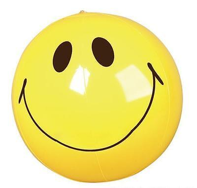 "SMILEY FACE BEACH BALL 16"" Pool Party Beachball NEW #ST7 Free Shipping"