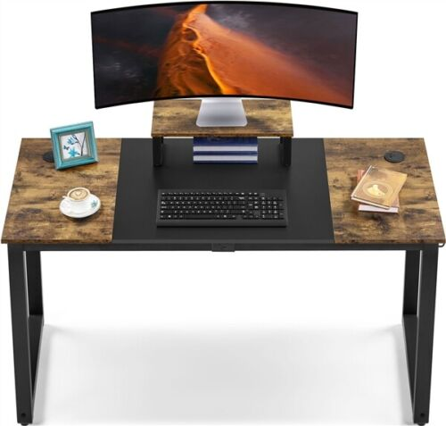"""55"""" Computer Desk with Monitor Stand & Splice Board, Home Of"""