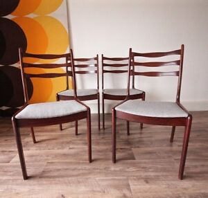 Set of 4 Rare Danish Newly UpholsteredVintage Retro Teak Chairs Hurlstone Park Canterbury Area Preview