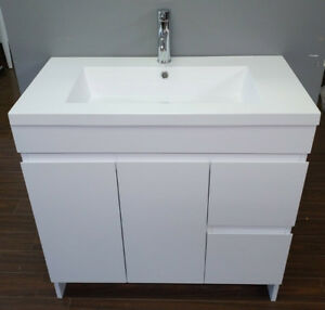 """36"""" modern white vanity with top/sink incl !"""