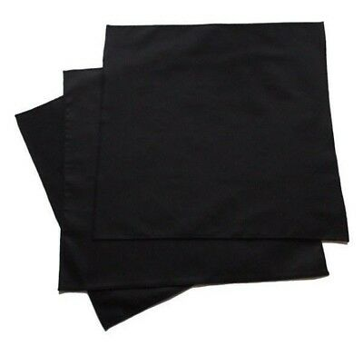 100% Organic Cotton Huge Black Men's Handkerchiefs - Set of 3, USA made