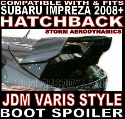 V-Style WRC Rear boot spoiler JDM 4 pc FOR Subaru Impreza 2008+ GRB Hatchback