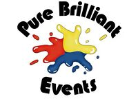 Pure Brilliant Events - face painting, balloon modelling, popcorn & candy floss!
