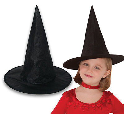 Halloween CHILD Black Witch Hat - Fancy Dress Party Costume Wizard Accessory UK](Child Halloween Costumes Uk)