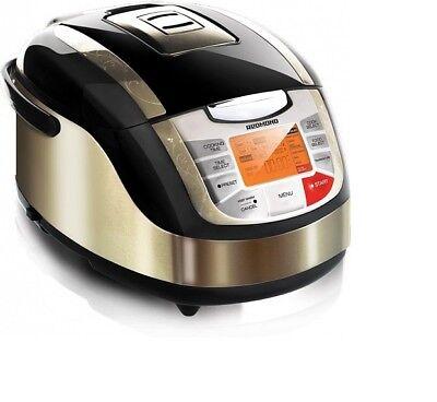 Redmond 5L Multi Cooker with 3D Heating 34 programs Keep Warm RMC-M4502E - Black
