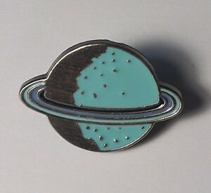 Planet pin badge (UK seller) Quality pin lapel gift space metal badge colourful
