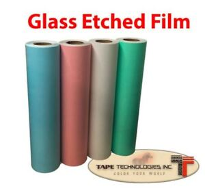 COLOR ETCHED FROSTED GLASS FILM 12 X 24 X 1 MADE IN THE USA
