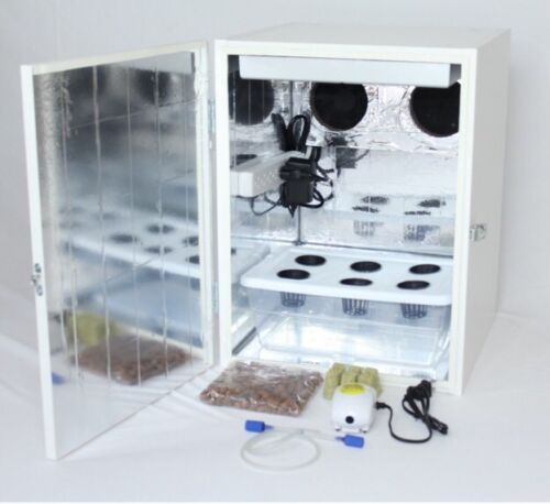 "Photo 20"" Stealth Grow Box - 6 Site Hydroponic System - LED Grow Light"