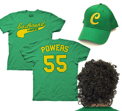 Kenny Powers Costumes (Kenny Powers Charros Outfit - Eastbound & Down Shirt Hat Wig Halloween)