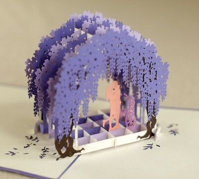 3D Pop-Up Love Card, Valentine's Day, Couple, Romance, Willow Tree, used for sale  Los Angeles
