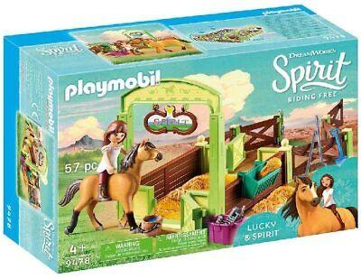 PLAYMOBIL DreamWorks Spirit 9478 Pferdebox Lucky & Spirit Ab 4 Jahren OVP