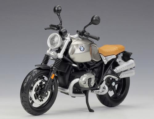 1//12 Maisto BMW NineT Scrambler Diecast Motorcycle Model Bike 18834 Silver gray