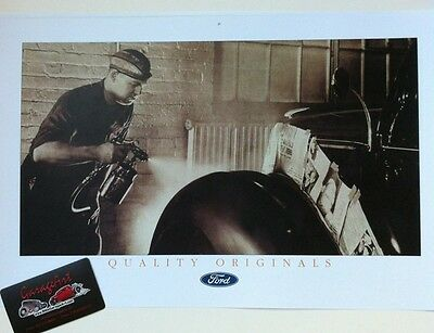 "1930's Ford Paint & Body Shop Reprint 11x17"" Photo Garage Decor"