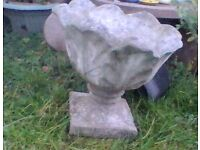 "large tulip urn.very heavy apx 22""x 17"""