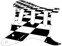 1480x6x1.5mm Black and White Checker-ish Wonky Banded Celluloid Binding
