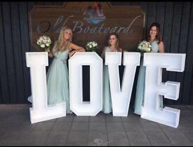 Wedding LOVE Light Hire