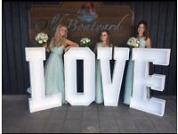 Wedding LOVE Light Hire