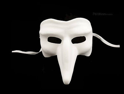 Mask Venice White to Paint Capitano Authentic Carnival Venetian 106