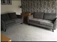 Grey DFS Aurora 3 seater and 2 seater sofas 5 MONTHS OLD