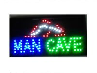 .BAR Signs, OPEN SIGN, ATM, MANCAVE Signs ($44 Ship FREE)