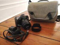 Nikon D70 Digital SLR Camera with a lens