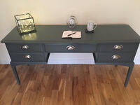 ***SOLD***Vintage STAG Minstrel 5 drawer desk/dressing/console table - Not Shabby Chic