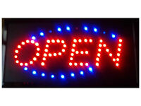 Electric OPEN Signs, BAR Signs, & MAN CAVE Signs $44〓Ship.FREE!!