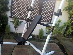 Body Solid Olympic Adjustable Bench / Squat Rack no weights bar