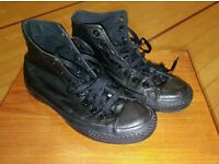 Converse All Star 5 1/2 black leather Chuck Taylor
