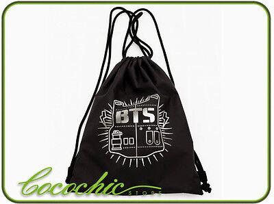 KPOP BTS Bangtan Boys Drawstring Bag Backpack String Bags Bangtan ...