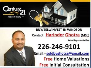 BUY/SELL/INVEST IN WINDSOR, Contact:Harinder 226-246-9101 Windsor Region Ontario image 1